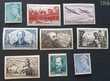 Entre 538 et 546 timbres avec charnières