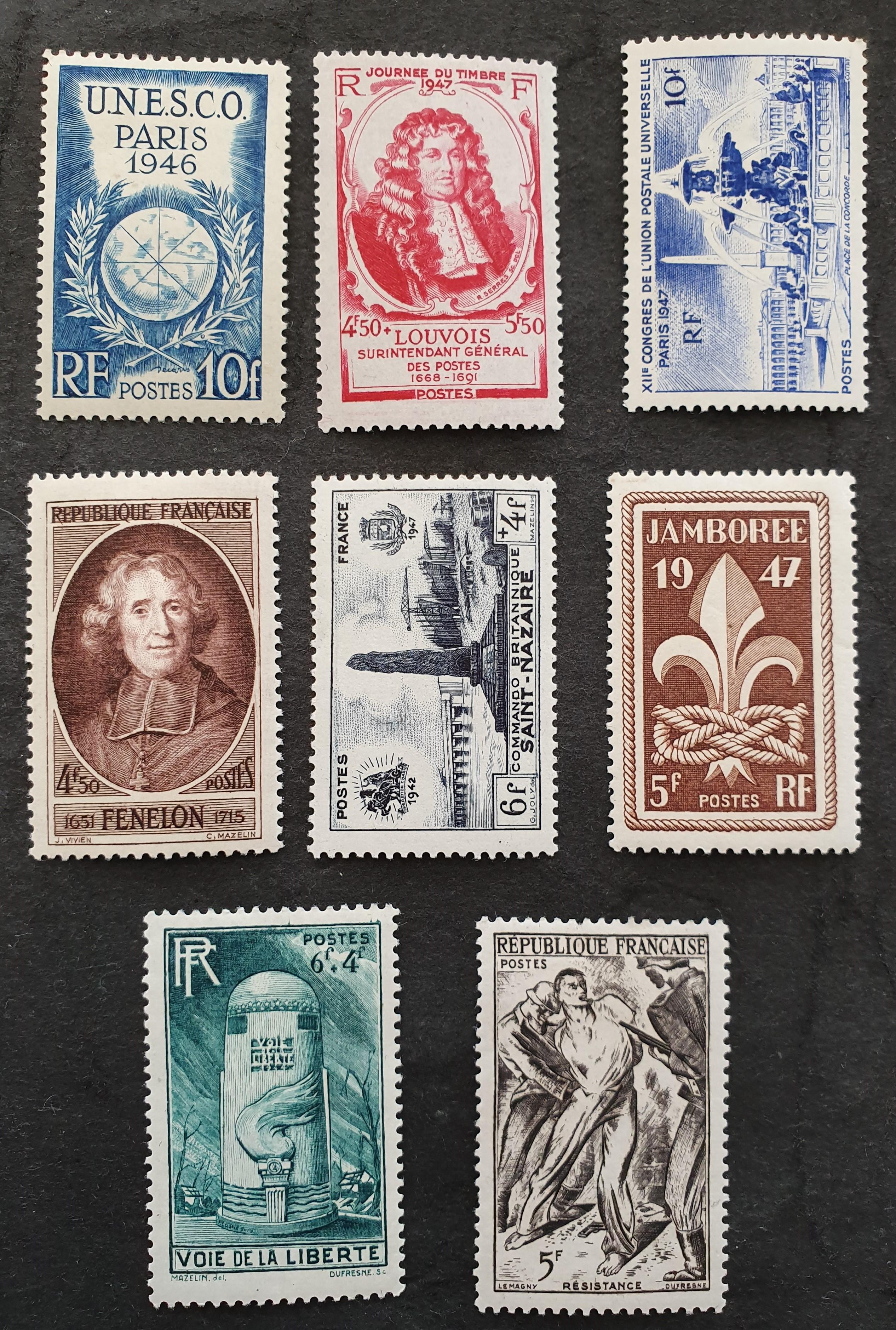 Entre 771 et 790  timbres avec charnière 80c 1 Joué-lès-Tours (37)