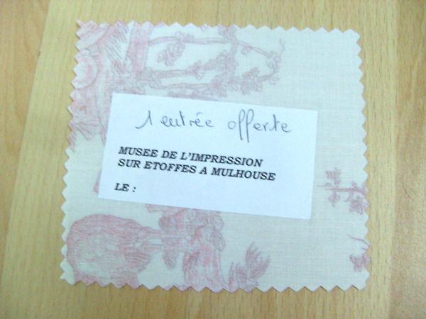 Entrée: Musée de l'impression sur étoffes-Mulhouse 7 Ardoix (07)
