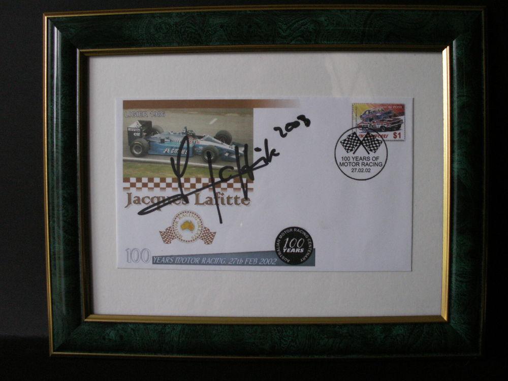 Enveloppe-1er-jour-Jacques-Laffite-grands-prix-d'Australie 40 Villenave-d'Ornon (33)