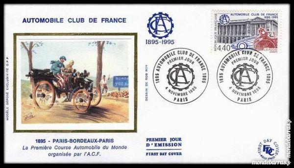 Enveloppe Premier  1995 Automobile Club de France 2 Gujan-Mestras (33)
