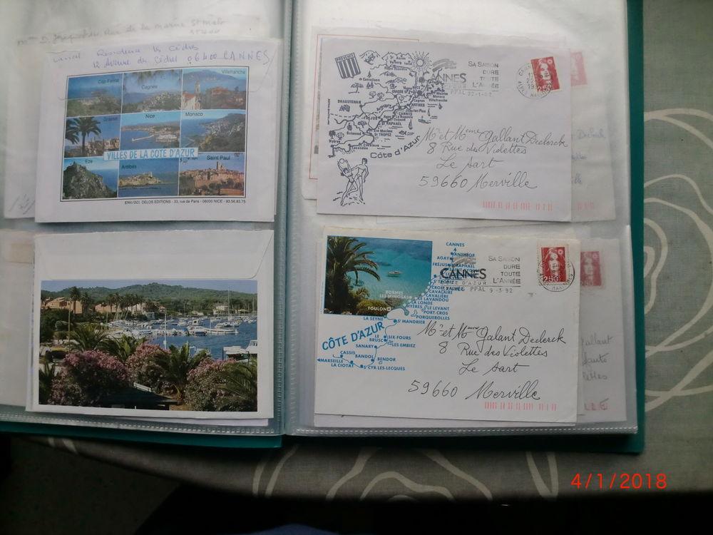 enveloppes  écrite et timbré (30cts) 1 Merville (59)