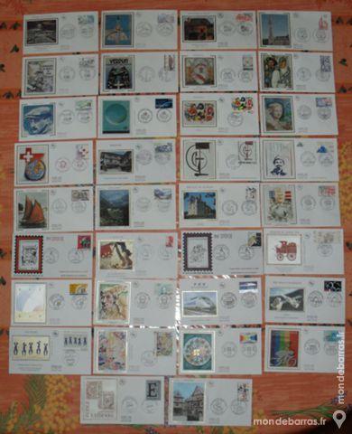 34 enveloppes 1er jour 1981-1989 45 Montreuil (93)