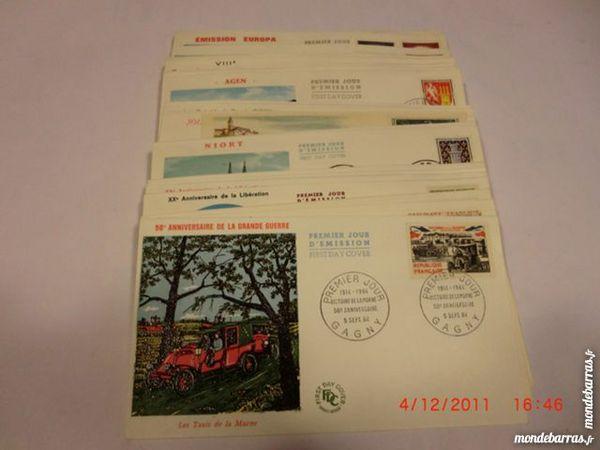 lot enveloppes premier jour FDC 1964   p12 62 Grézieu-la-Varenne (69)