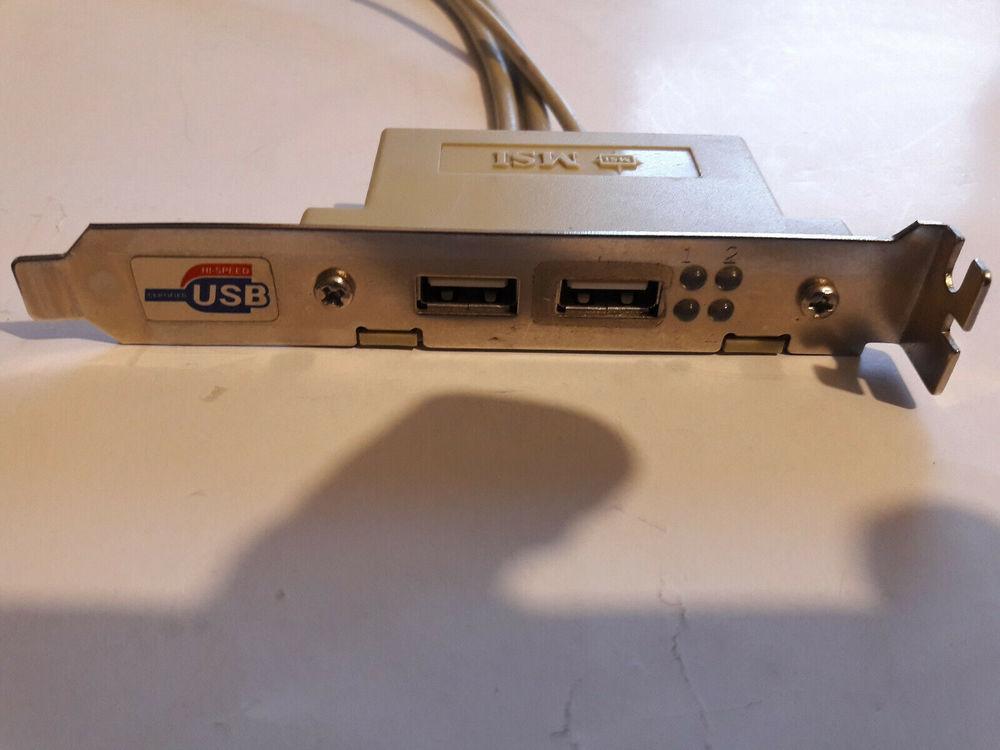 Equerre slot pour 2 ports USB 2.0 MSI Matériel informatique