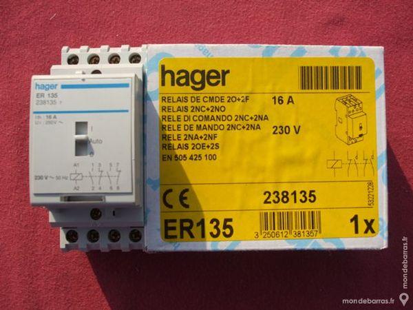 Réf ER135 RELAIS DE COMMANDE HAGER 16A 20+2F 230V 80 Tergnier (02)