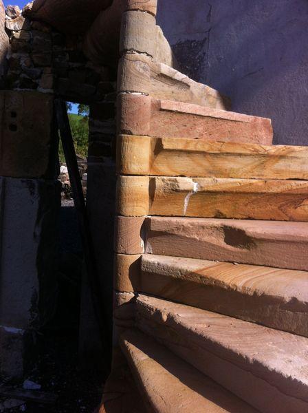 Escalier colima on en pierre d coration - Escalier colimacon occasion ...