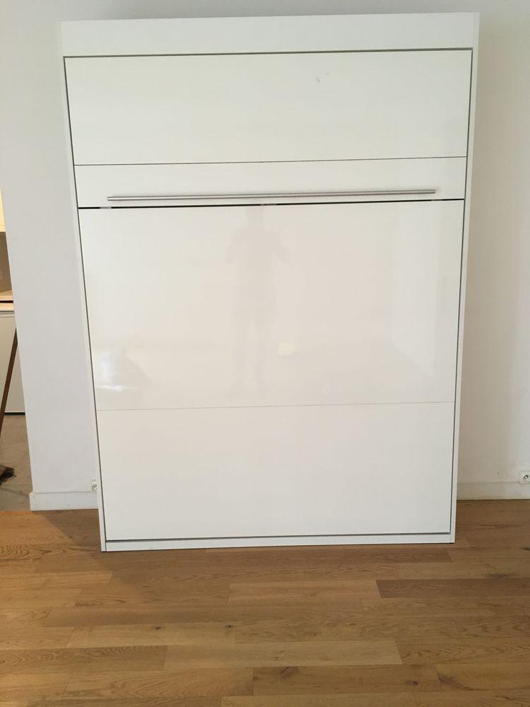 lit escamotable Conception blanc mat 140x200 690 Paris 16 (75)