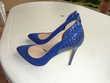escarpin bleu pointure 40