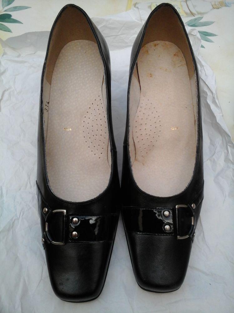Escarpins cuir noir 10 Pessac (33)