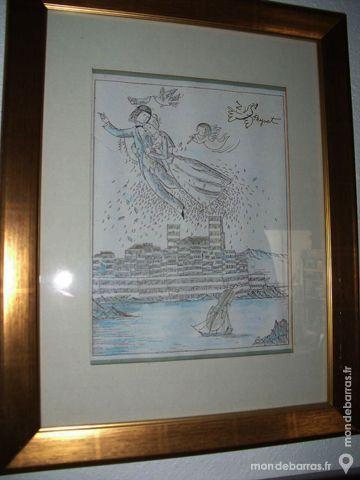 Estampe signée de RAYMOND PEYNET 1 Antibes (06)