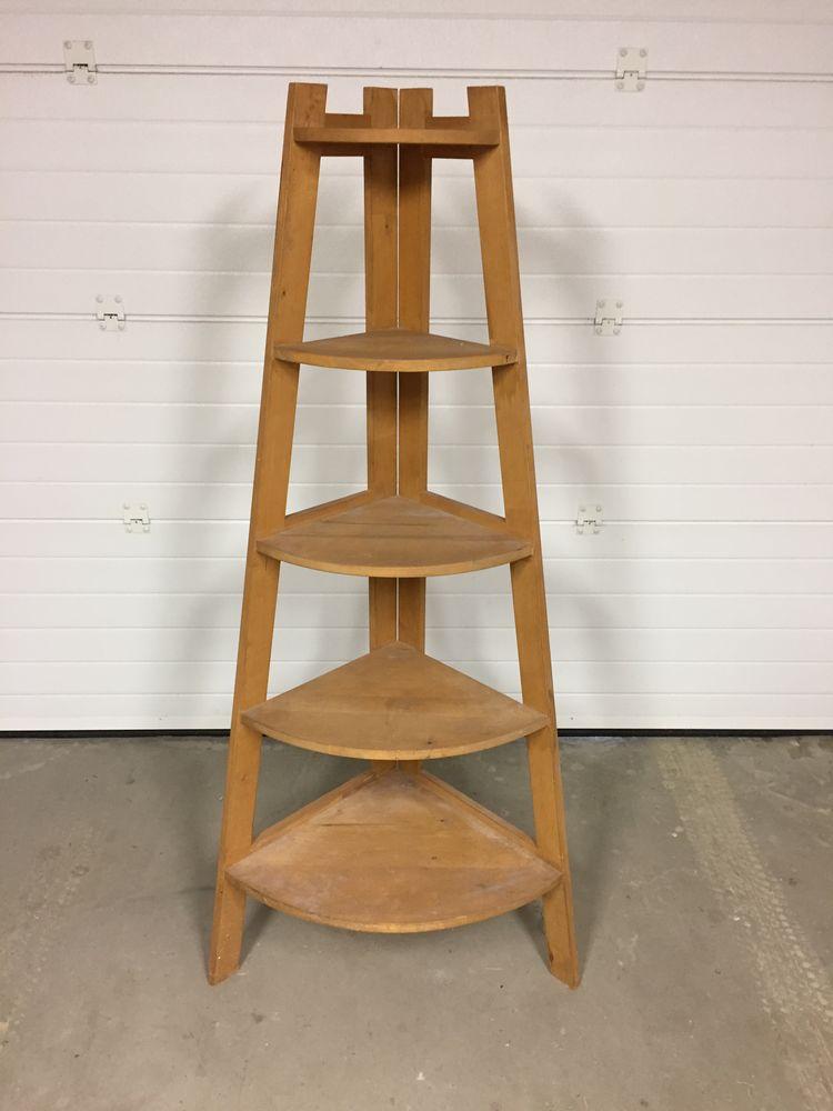 Etagère d'angle en bois 30 Riscle (32)
