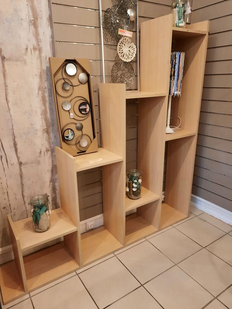 etagere ou bibliothèque en bois coul hetre 80 Caugé (27)