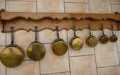 Étagère et casseroles cuivre 60 Gravelines (59)