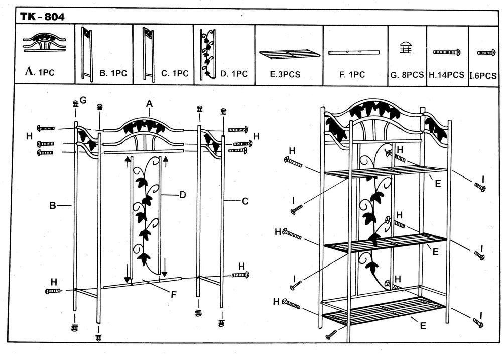 Étagère métallique TK 804 Pergola 15 Saverne (67)