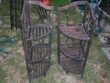 lot de 2 etageres porte pots de fleurs en bois pliante