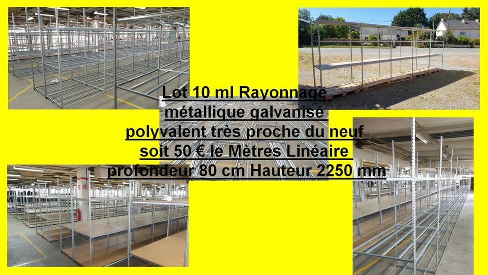étagères Rayonnage métallique galvanisé 10 ml 500 Saint-Pôtan (22)
