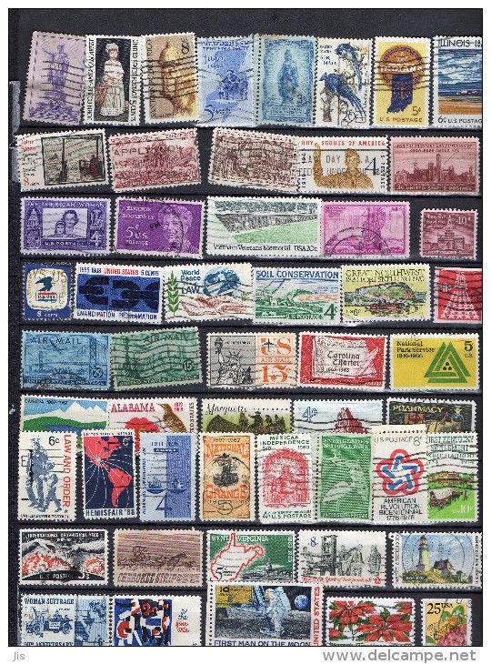 ETATS UNIS - timbres 2 Chivres-Val (02)