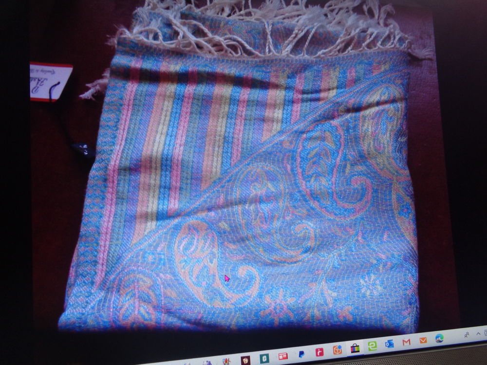 étole neuve étiquette tendance bleu  16 Argenteuil (95)