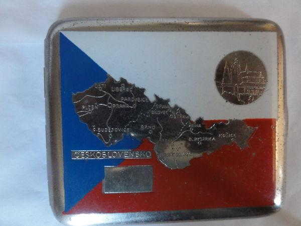 étui a cigarette  paysage territoire Tchécoslovaquie rare 35 Nanterre (92)