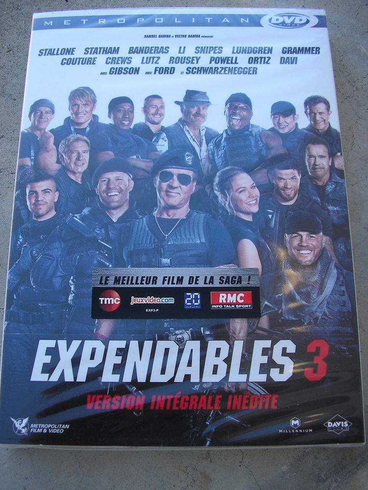 Expendables 3 DVD et blu-ray