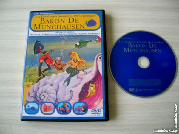 DVD LES FABULEUSES AVENTURES  BARON DE MUNCHAUSEN 22 Nantes (44)
