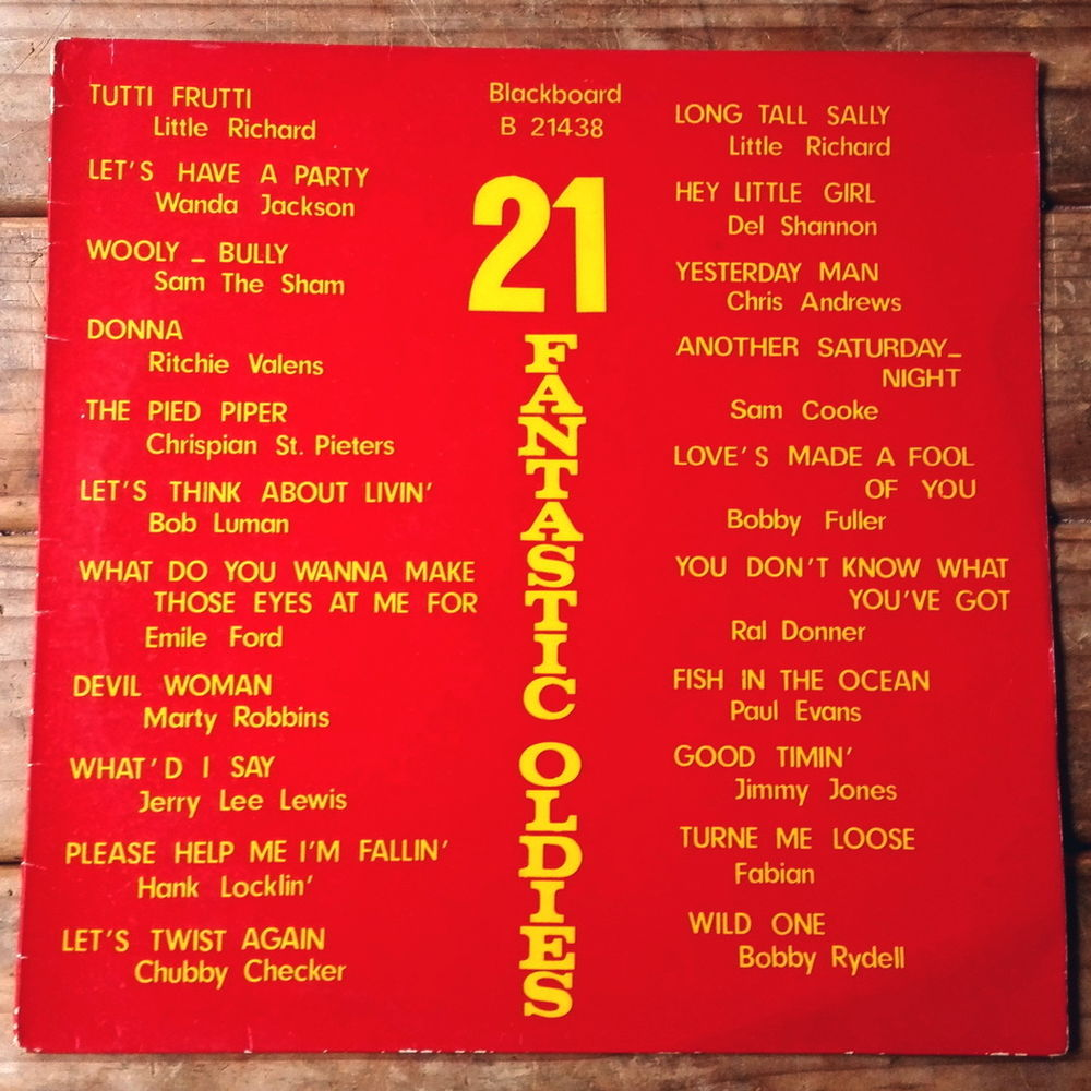21 FANTASTIC OLDIES - 33t Holl -LITTLE RICHARD-SAM COOKE etc 4 Tourcoing (59)