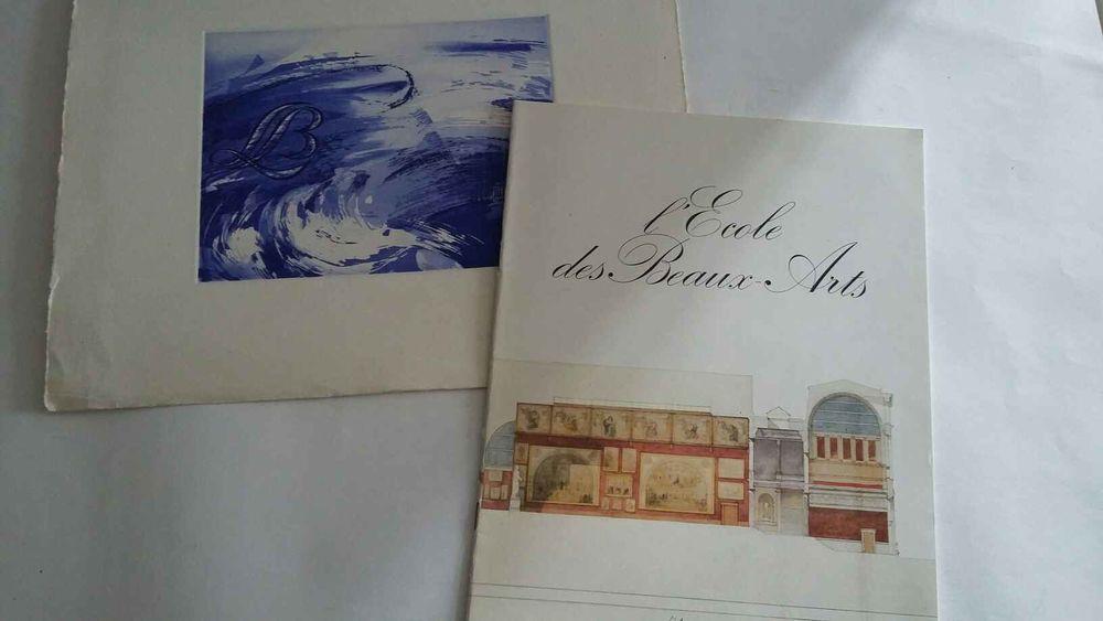 Fascicule de l'école des beaux arts de Paris, et une litho   10 Saumur (49)