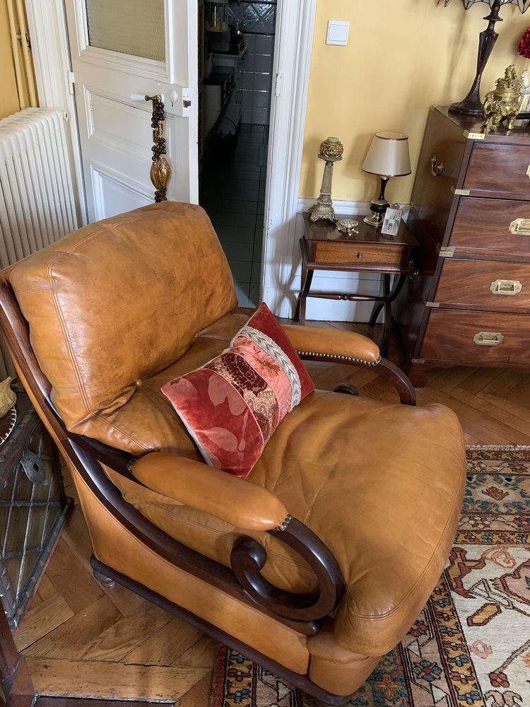 2 fauteuil anglais en cuir 200 Bordeaux (33)