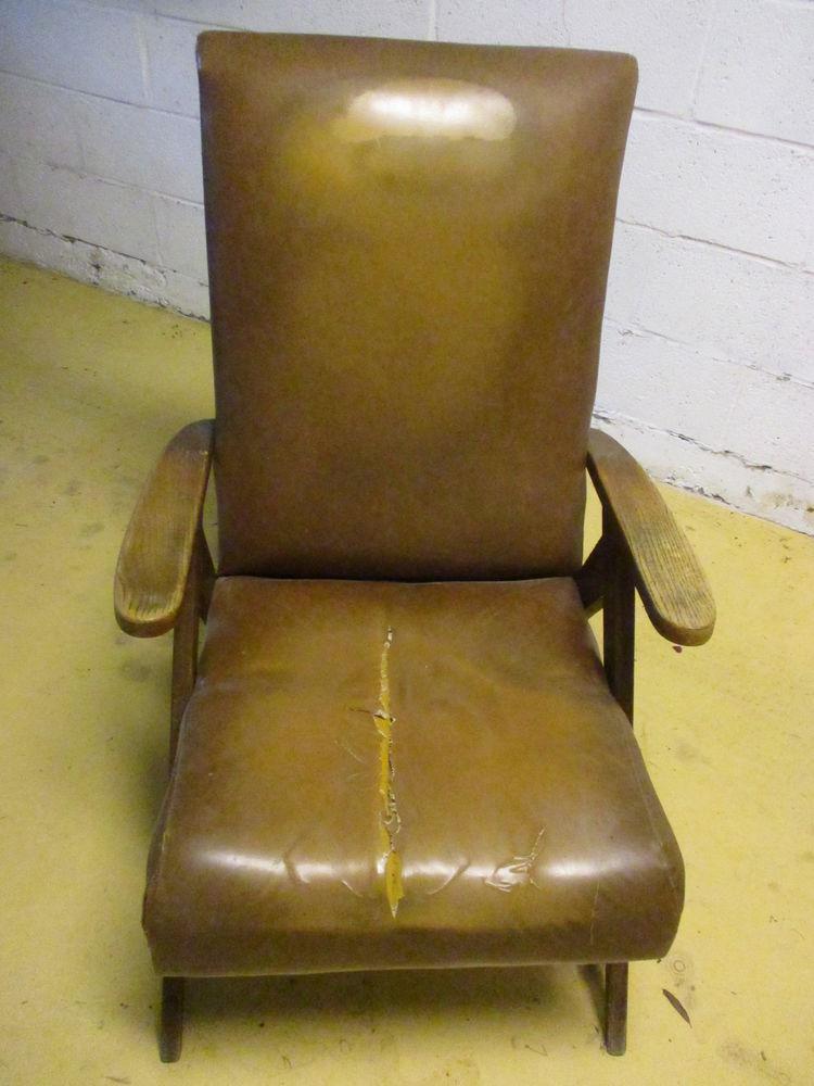 fauteuil avec pieds compas à rénover vintage bois bon état Bricolage