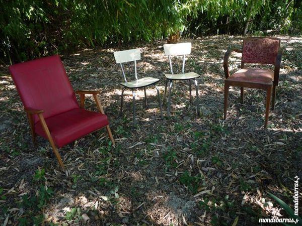 Fauteuil bridge/1950 skaï,chaise formica,déco 15 Castres (81)