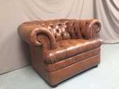 Fauteuil chesterfield cuir marron 800 Guécélard (72)