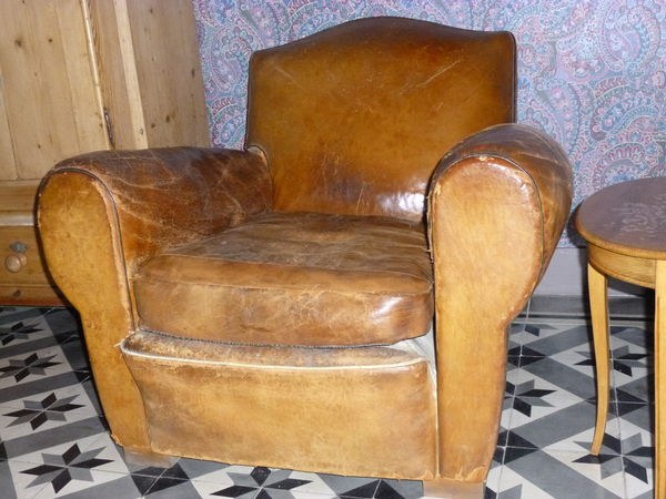 Achetez fauteuil club cuir occasion annonce vente  Verneuil 51