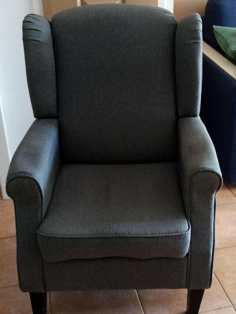 fauteuil confort tissu gris 55 Six-Fours-les-Plages (83)