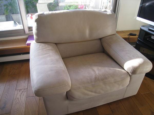 fauteuil, cuir buffle pleine fleur, Duvivier 135 Paris 13 (75)