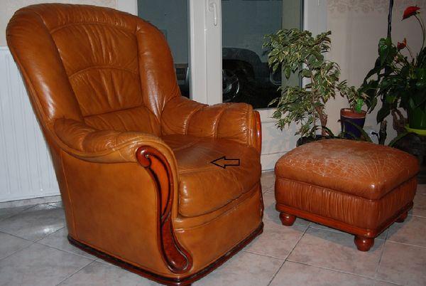Achetez fauteuil cuir marron occasion annonce vente  Crulai 61