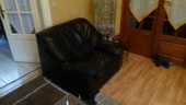 fauteuil cuir noir 20 Drancy (93)