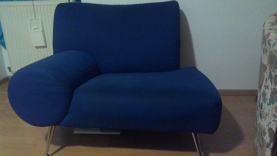 Fauteuil  forme Vintage tissus Bleu 39 Lille (59)