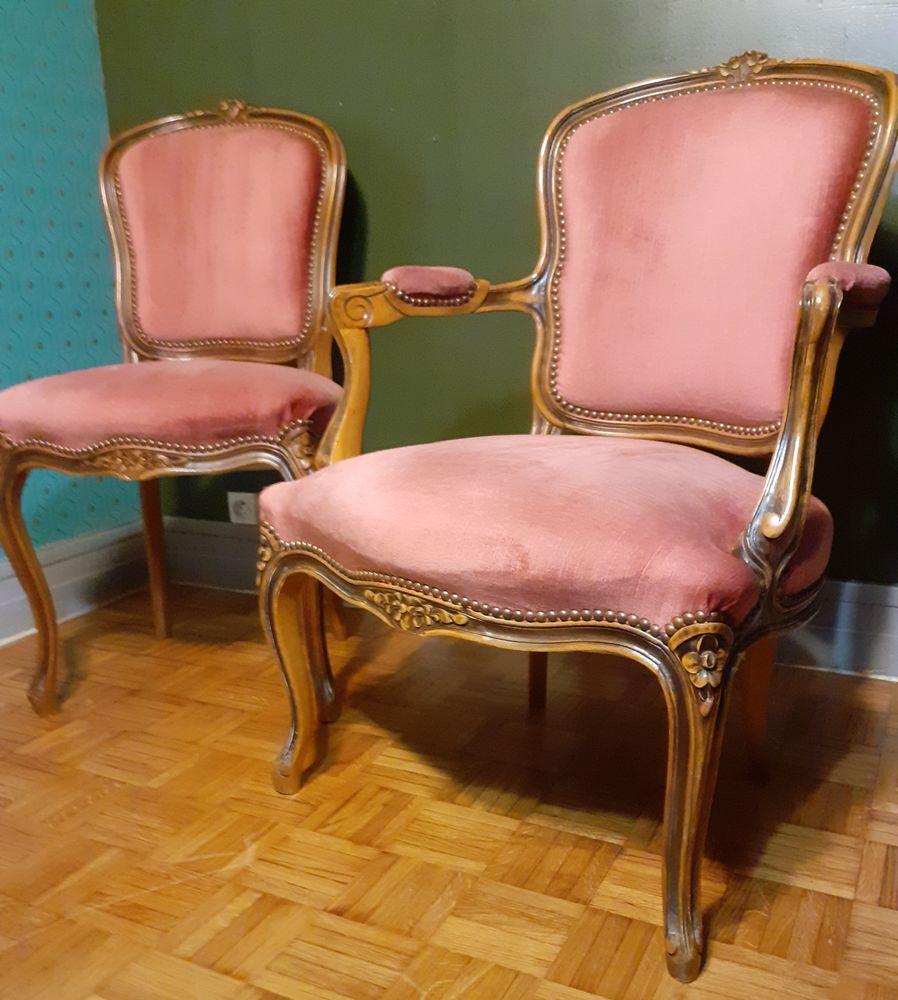 Fauteuil Louis XV et sa chaise Très bon état 160 Paris 15 (75)