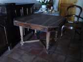 FAUTEUIL LOUIS PHILIPPE AUTHENTIQUE TABLE ANCIENNE en NOYER 150 Auch (32)