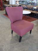 Fauteuil moderne tissu rouge 50 Toulouse (31)