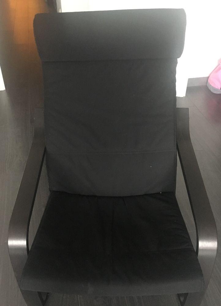 Achetez fauteuil noir poang quasi neuf annonce vente for Housse fauteuil poang