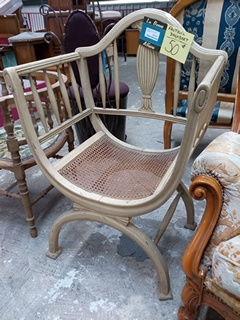 Fauteuil Art Nouveau assise canné 50 Toulouse (31)