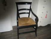 fauteuil noyer peint, siège tressé 80 Six-Fours-les-Plages (83)