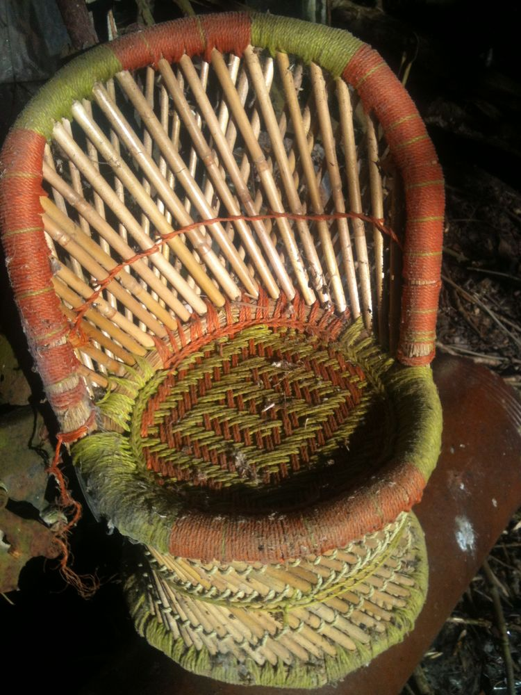 Fauteuil osier bambou rotin vintage pour enfant ou poupée  80 Bosc-le-Hard (76)