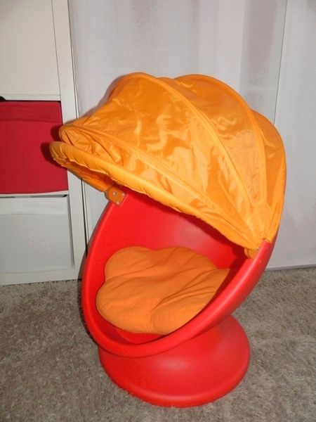Fauteuil pivotant orange Ikea - TBE 50 Arles (13)