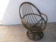 fauteuil pivotant en rotin Meubles