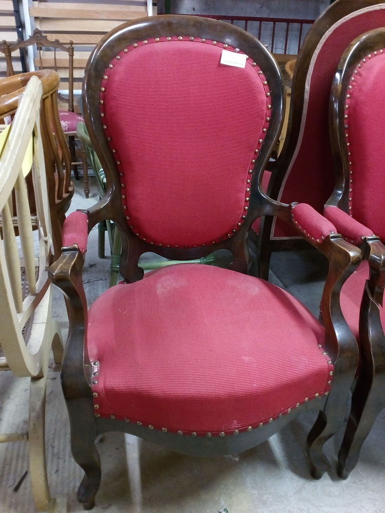 Fauteuil style Louis Philippe rouge 80 Toulouse (31)