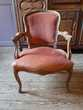 Fauteuil Style Louis XV Velour Ocre Rouge Meubles