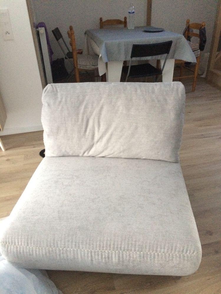 Fauteuil en tissu gris clair 105 Sartrouville (78)